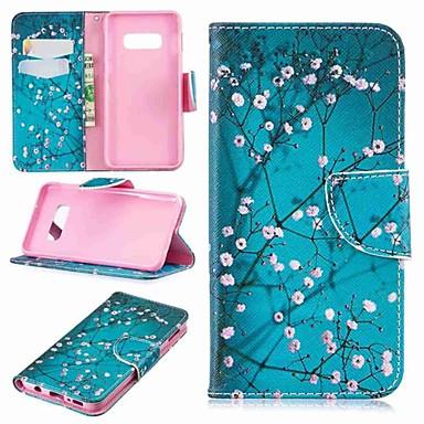 Недорогие Чехлы и кейсы для Galaxy S3-Кейс для Назначение SSamsung Galaxy S9 / S9 Plus / S8 Plus Кошелек / Бумажник для карт / со стендом Чехол Цветы Твердый Кожа PU
