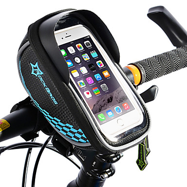 d5f774790bb ROCKBROS Cell Phone Bag Bike Frame Bag Touch Screen Waterproof Lightweight Bike  Bag TPU EVA Polyster