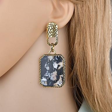 여성용 클래식 드랍 귀걸이 귀걸이 빈티지 유럽의 프랑스어 보석류 골드 제품 이브닝 파티 제전 1 쌍