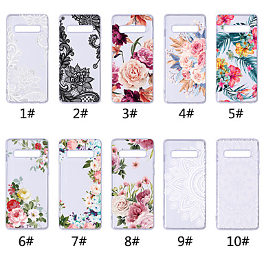 voordelige Galaxy S-serie hoesjes / covers-hoesje Voor Samsung Galaxy S9 / S9 Plus / S8 Plus Transparant / Patroon Achterkant Lace Printing / Bloem Zacht TPU