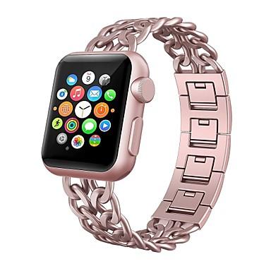 Χαμηλού Κόστους Ανδρικά ρολόγια-Κράμα Παρακολουθήστε Band Λουρί για Apple Watch Series 4/3/2/1 Μαύρο / Ασημί / Χρυσό 18 εκατοστά / 7 ίντσες 2.2cm / 0.9 Ίντσες