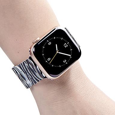 Недорогие Корпуса Apple Watch с ремешком-Кейс для Назначение Apple Apple Watch Series 4 / Apple Watch Series 4/3/2/1 / Apple Watch Series 3 Силикон Apple