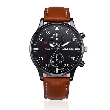 aef3671382b9 Hombre Reloj de Vestir Cuarzo Piel Negro   Azul   Marrón Reloj Casual  Analógico Moda Reloj