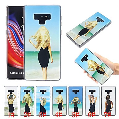 voordelige Galaxy Note-serie hoesjes / covers-hoesje Voor Samsung Galaxy Note 9 Schokbestendig / Stromende vloeistof / Ultradun Achterkant Sexy dame Zacht TPU