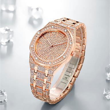 Недорогие Часы на металлическом ремешке-Муж. Нарядные часы Японский Кварцевый Нержавеющая сталь Серебристый металл / Золотистый / Розовое золото Секундомер Новый дизайн Светящийся Аналоговый Роскошь минималист -  / Два года