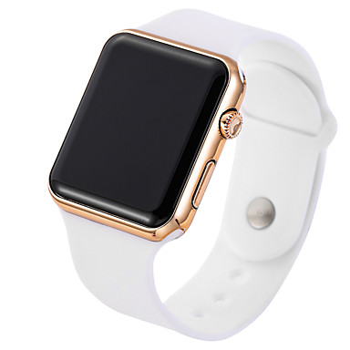 billige Herreure-Herre Sportsur Digital Watch Digital Silikone Sort / Hvid Afslappet Ur Digital Minimalistisk - Guld / Hvid Sort / Rose Guld / Rustfrit stål