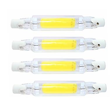 SENCART 4pcs 4 W Rörglödlampa 400 lm R7S T 1 LED-pärlor COB Vattentät Roterbar Bimbar Varmvit Kallvit 220-240 V