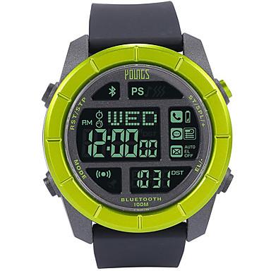 23d01e774 Men's Sport Watch Japanese Japanese Quartz Rubber Black 100 m Water  Resistant / Waterproof Smart Bluetooth