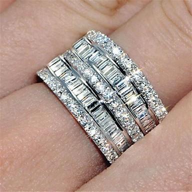 d3e2f8de4083a6 tanie Biżuteria damska-Damskie Pierścień / Pierścień Wieczności / wirujący  pierścień Cyrkonia 1 szt.