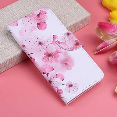 voordelige Galaxy J-serie hoesjes / covers-hoesje Voor Samsung Galaxy J7 (2017) / J6 / J6 (2018) Portemonnee / Kaarthouder / met standaard Volledig hoesje Bloem Hard PU-nahka