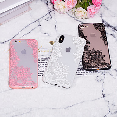 voordelige iPhone 7 hoesjes-hoesje Voor Apple iPhone XS / iPhone XR / iPhone XS Max Reliëfopdruk / Patroon Achterkant Lace Printing Hard PC