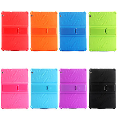 [$22 99] Case For Huawei Huawei Mediapad T5 10 / Huawei Mediapad M5 Lite 10  / Huawei MediaPad T3 8 0 Shockproof / with Stand Back Cover Solid Colored