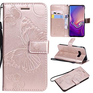 Недорогие Чехлы и кейсы для Galaxy S3-Кейс для Назначение SSamsung Galaxy S9 / S9 Plus / S8 Plus Бумажник для карт / со стендом / Флип Чехол Бабочка Твердый Кожа PU