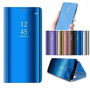 Недорогие Чехлы и кейсы для Galaxy S6 Edge-Кейс для Назначение SSamsung Galaxy S9 / S9 Plus / S8 Plus со стендом / Покрытие / Зеркальная поверхность Чехол Однотонный Твердый ПК