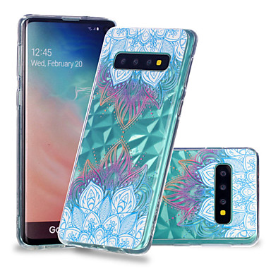 Case For Samsung Galaxy Galaxy S10 Plus / Galaxy S10 E Shockproof / Transparent / Pattern Back Cover Mandala Soft TPU for S9 / S9 Plus / S8 Plus