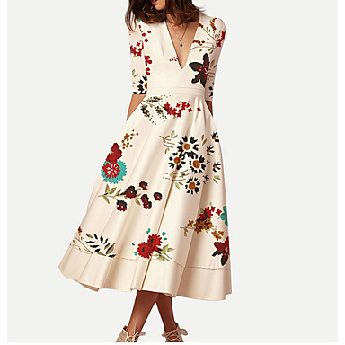 e06933041c85 cheap Print Dresses-Women's Kentucky Derby Holiday Going out Casual /