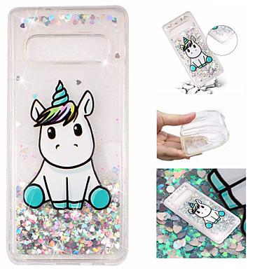 voordelige Galaxy S-serie hoesjes / covers-hoesje Voor Samsung Galaxy S9 / S9 Plus / S8 Plus Stromende vloeistof / Patroon / Glitterglans Achterkant Eenhoorn / Glitterglans Zacht TPU