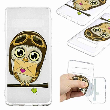 voordelige Galaxy S-serie hoesjes / covers-hoesje Voor Samsung Galaxy S9 / S9 Plus / S8 Plus Transparant / Patroon Achterkant Uil Zacht TPU