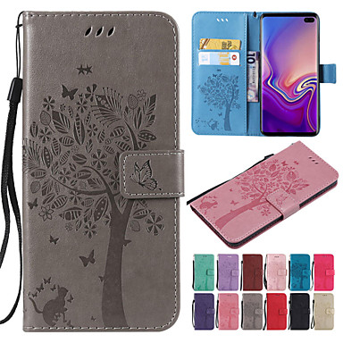 cheap Galaxy S4 Mini Cases / Covers-Case For Samsung Galaxy S9 / S9 Plus / S8 Plus Wallet / Card Holder / with Stand Full Body Cases Cat / Tree Hard PU Leather