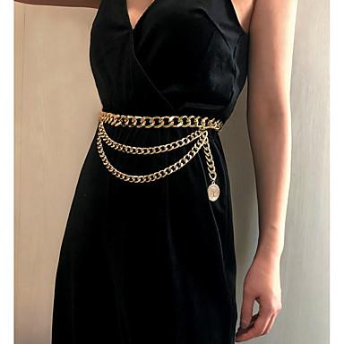 preiswerte Körperschmuck-Damen Körperschmuck 75 cm Hüftkette Gold / Silber Aluminium / Aleación Modeschmuck Für Party / Geschenk / Verabredung Sommer
