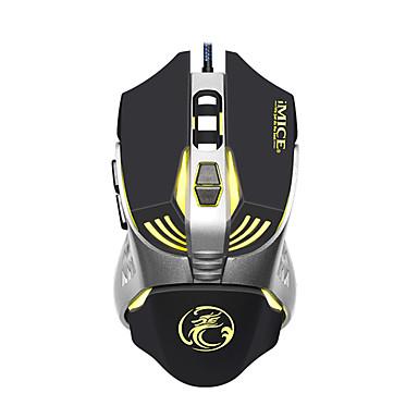 IMICE V5 Drátový USB Gaming Mouse Vedly dýchací světlo 1200/1600/2400/3200 dpi 4 Nastavitelné úrovně DPI 7 pcs Klíče