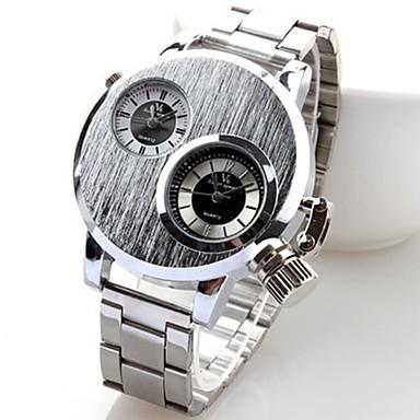 levne Pánské-V6 Pánské Náramkové hodinky Křemenný Stříbro Hodinky na běžné nošení Analogové Na běžné nošení Módní - Stříbrná