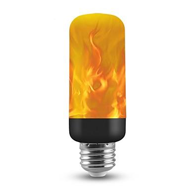 1 buc 3 W Bulb LED Glob 150 lm E26 / E27 T 40 LED-uri de margele SMD 2835 Crăciun decor de nunta Flacăra pâlpâie Focuri de artificii 3D Cald galben 85-265 V / RoHs / FCC