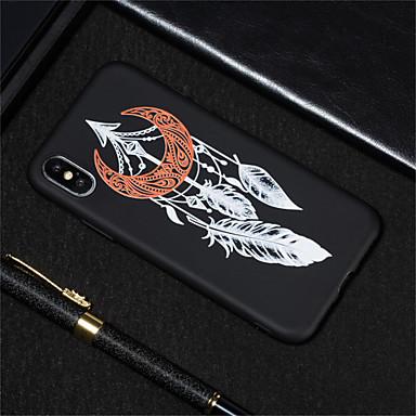voordelige iPhone 6 hoesjes-hoesje Voor Apple iPhone XS / iPhone XR / iPhone XS Max Mat / Patroon Achterkant Veren Zacht TPU