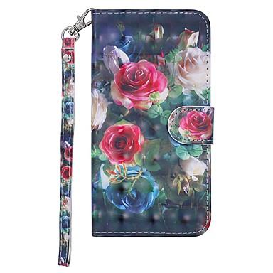 halpa Nokia kotelot / kuoret-Etui Käyttötarkoitus Nokia Nokia 7.1 Lomapkko / Korttikotelo / Tuella Suojakuori Kukka Kova PU-nahka varten Nokia 7.1