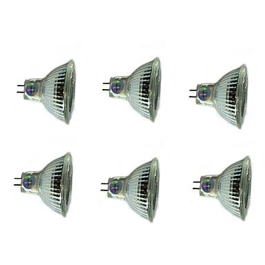 Недорогие Светодиоды и лампы-6шт 3 W Точечное LED освещение 200 lm MR16 MR16 12 Светодиодные бусины SMD Декоративная Новогоднее украшение для свадьбы Тёплый белый Холодный белый 12 V / RoHs