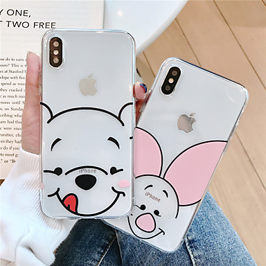 voordelige iPhone X hoesjes-hoesje Voor Apple iPhone XS / iPhone XR / iPhone XS Max Patroon Achterkant Cartoon Zacht TPU