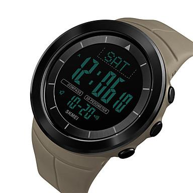 Χαμηλού Κόστους Ανδρικά ρολόγια-SKMEI Ανδρικά Ψηφιακό ρολόι Ψηφιακό σιλικόνη Μαύρο / Μπλε / Κόκκινο 50 m Ανθεκτικό στο Νερό Ημερολόγιο Διπλές Ζώνες Ώρας Ψηφιακό Υπαίθριο Μοντέρνα - Πράσινο Μπλε Χακί