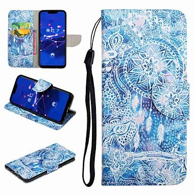 voordelige Huawei Y-serie hoesjes / covers-hoesje Voor Huawei Honor 9 / Honor 8 / Huawei Honor 7 Kaarthouder / met standaard / Flip Volledig hoesje Cartoon Hard PU-nahka