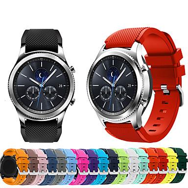 billige Telefontilbehør-Klokkerem til Gear S3 Frontier / Gear S3 Classic Samsung Galaxy Sportsrem Silikon Håndleddsrem