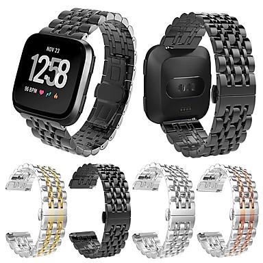 billige Klokkeremmer til Huawei-Klokkerem til Fitbit Versa / Fitbit Versa Lite Huawei Sportsrem Metall / Rustfritt stål Håndleddsrem