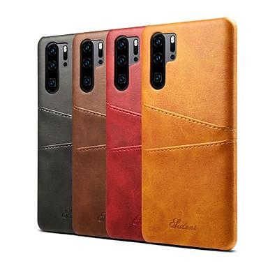 tok Για Huawei Huawei P30 / Huawei P30 Pro Θήκη καρτών / Ανθεκτική σε πτώσεις Πίσω Κάλυμμα Μονόχρωμο Σκληρή PU δέρμα για Huawei P20 / Huawei P20 Pro / Huawei P30