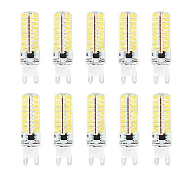 Недорогие Светодиодные электролампы-HKV 10 шт. 4.5 W Двухштырьковые LED лампы 350-450 lm G9 T 72 Светодиодные бусины SMD 2835 Водонепроницаемый Диммируемая Декоративная Тёплый белый Холодный белый Естественный белый 220-240 V 110-130 V