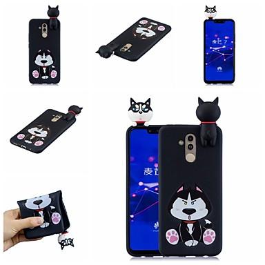 voordelige Huawei Mate hoesjes / covers-hoesje Voor Huawei Huawei Honor 9 Lite / Huawei Honor 8X / Honor 7A Patroon Achterkant Hond / Cartoon Zacht TPU