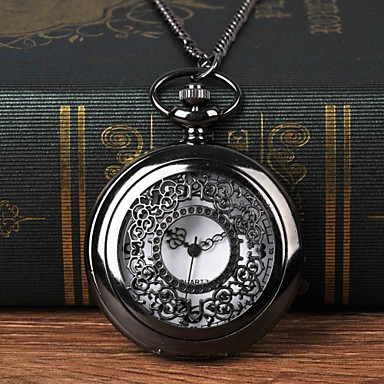 Χαμηλού Κόστους Ανδρικά ρολόγια-Ανδρικά Ρολόι Τσέπης Χαλαζίας Μαύρο Εσωτερικού Μηχανισμού Καθημερινό Ρολόι Μεγάλο καντράν Αναλογικό Μοντέρνα Σκελετός - Μαύρο