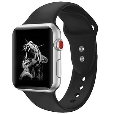 Недорогие Ремешки для Apple Watch-Ремешок для часов для Apple Watch Series 4/3/2/1 Apple Классическая застежка силиконовый Повязка на запястье