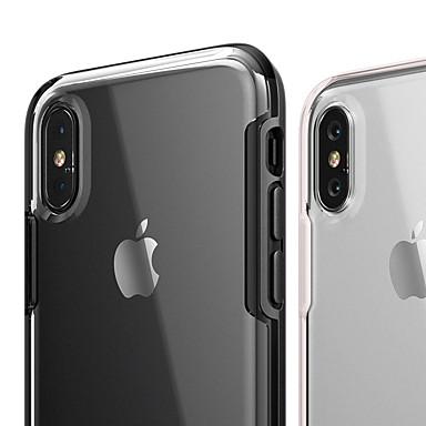voordelige iPhone-hoesjes-hoesje Voor Apple iPhone XS / iPhone XR / iPhone XS Max Schokbestendig / Ultradun / Transparant Achterkant Transparant Hard TPU / PC / silica Gel