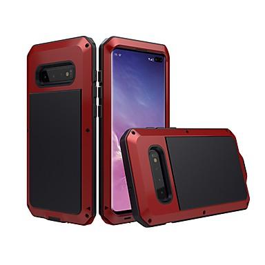 Недорогие Чехлы и кейсы для Galaxy S6 Edge-Кейс для Назначение SSamsung Galaxy S9 / S9 Plus / S8 Plus Водонепроницаемый / Защита от удара / Защита от пыли Чехол Однотонный Твердый Металл