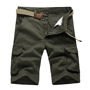 economico Abbigliamento uomo-Per uomo Essenziale Pantaloncini Pantaloni - Tinta unita Giallo Verde militare Cachi 38 42 44