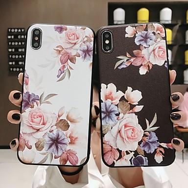 voordelige iPhone 7 hoesjes-hoesje Voor Apple iPhone XS / iPhone XR / iPhone XS Max Mat / Patroon Achterkant Bloem Zacht TPU