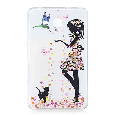 voordelige Samsung Tab-serie hoesjes / covers-hoesje Voor Samsung Galaxy Tab A 7.0 (2016) Patroon Achterkant Vlinder / Sexy dame Zacht TPU