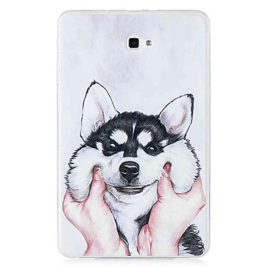 voordelige Samsung Tab-serie hoesjes / covers-hoesje Voor Samsung Galaxy Tab E 9.6 / Tab A 10.1 (2016) Patroon Achterkant Hond Zacht TPU