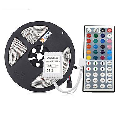 5m Fâșii De Becuri LEd Flexibile / Bare De Becuri LED Rigide / Fâșii RGB 300 LED-uri 5050 SMD RGB Rezistent la apă / Ce poate fi Tăiat / De Legat 12 V 1set / IP65 / Auto- Adeziv