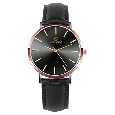 זול שעוני גברים-בגדי ריקוד גברים שעוני שמלה קווארץ עור שחור / חום שעונים יום יומיים אנלוגי אופנתי מינימליסטי - שחור / כחול שחור / זהב לבן / Beige שנה אחת חיי סוללה