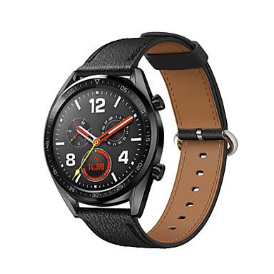Недорогие Ремешки для часов Huawei-Ремешок для часов для Huawei Watch GT Huawei Классическая застежка Натуральная кожа Повязка на запястье