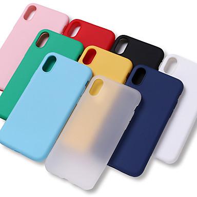 voordelige iPhone 7 hoesjes-hoesje Voor Apple iPhone XS / iPhone XR / iPhone XS Max Schokbestendig / Waterbestendig Achterkant Effen Zacht TPU